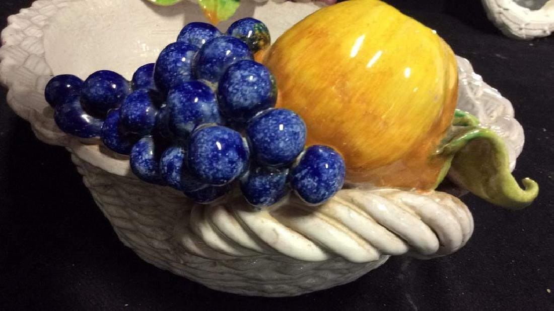 Trompe L'Oueil Ceramic Fruit Basket - 8