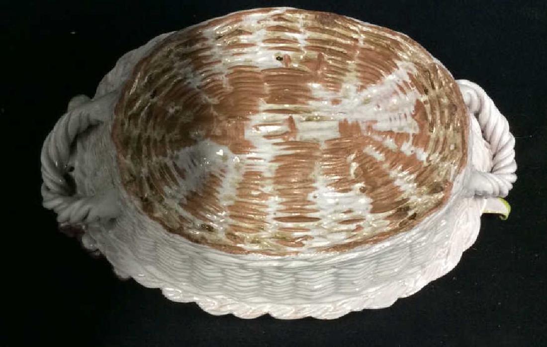 Trompe L'Oueil Ceramic Fruit Basket - 9