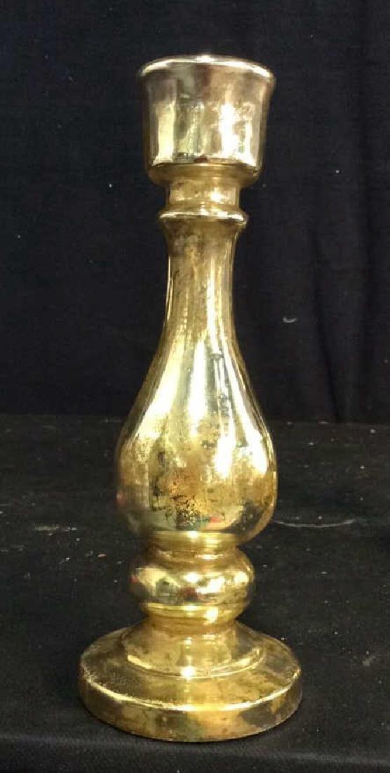 Pair Ralph Lauren Mercury Glass Candlesticks - 5