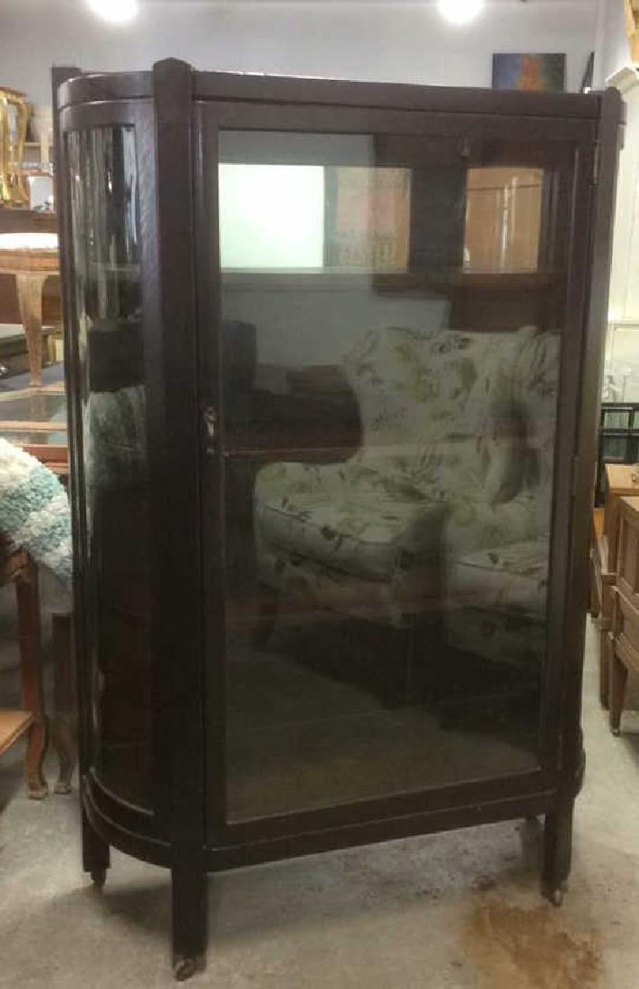 Antique Glass Front Vitrine