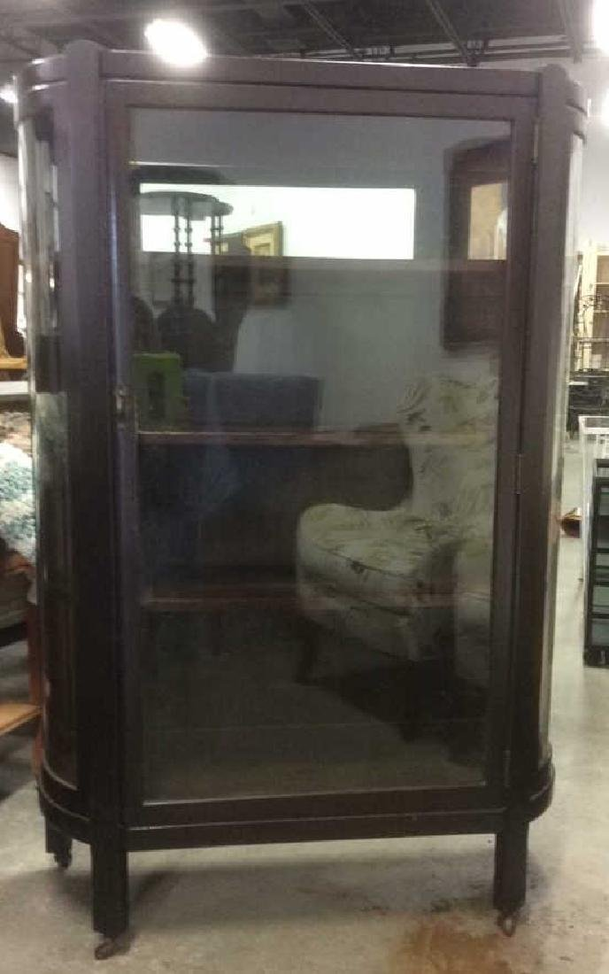 Antique Glass Front Vitrine - 2
