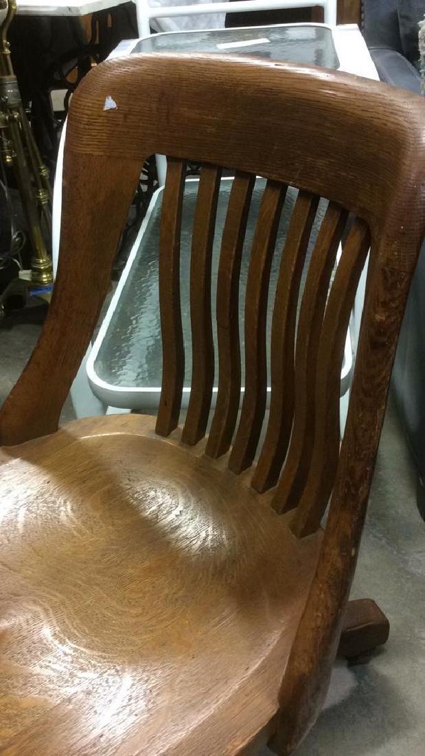 Antique Oak Swivel Chair - 5