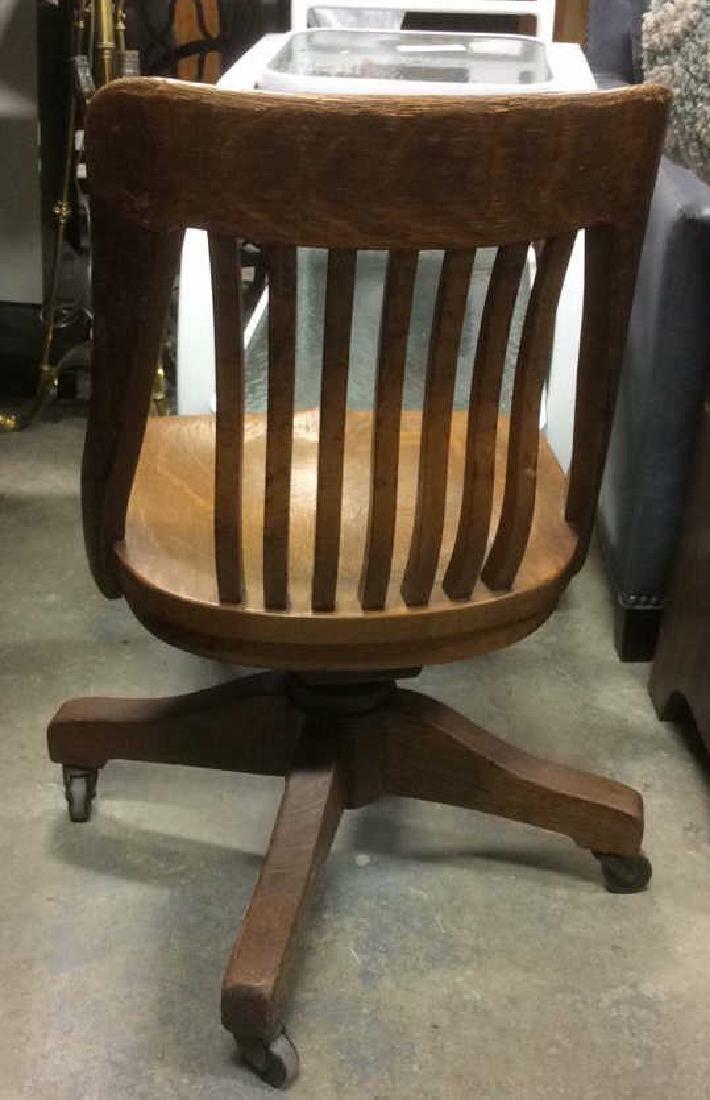 Antique Oak Swivel Chair - 6