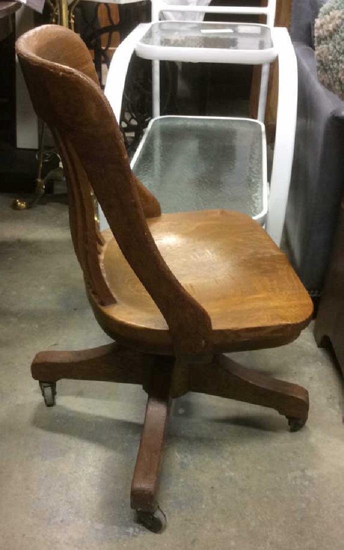 Antique Oak Swivel Chair - 7