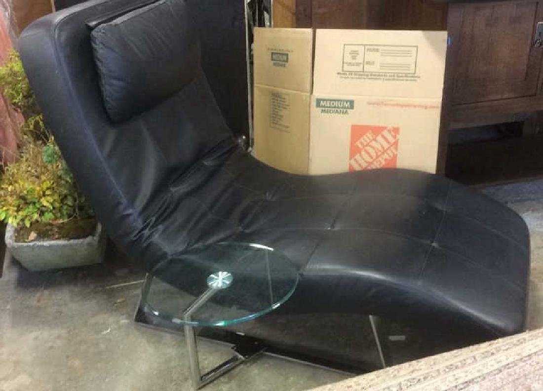 Boconcept Modern Chaise Lounge Chair w Table - 2