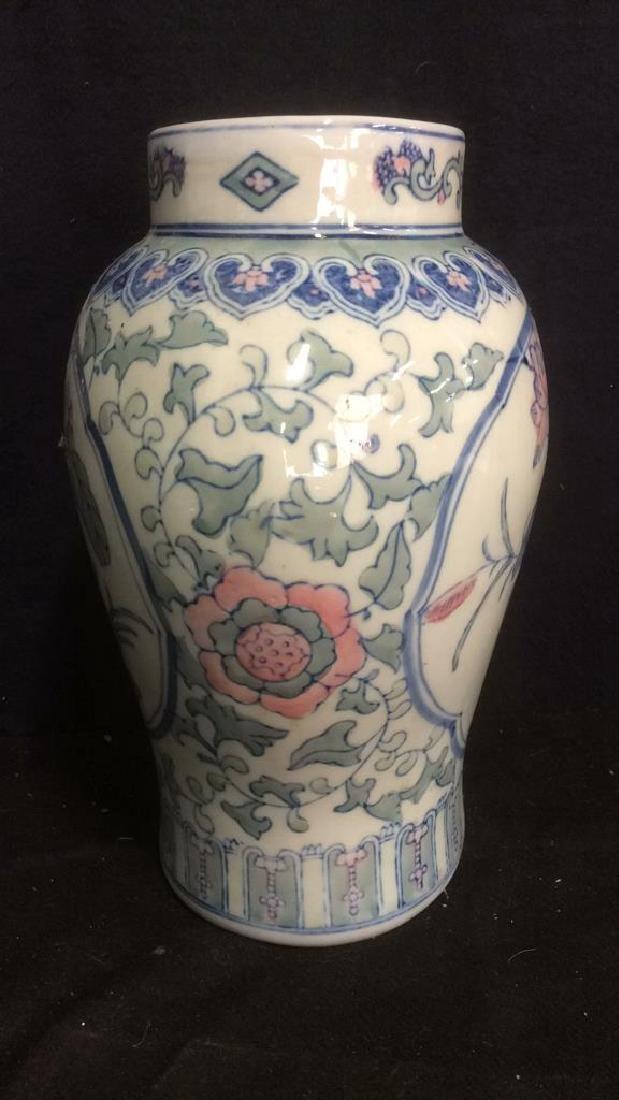 Asian Hand Made Ceramic Vase - 4