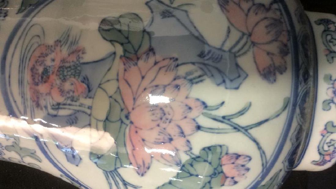 Asian Hand Made Ceramic Vase - 9