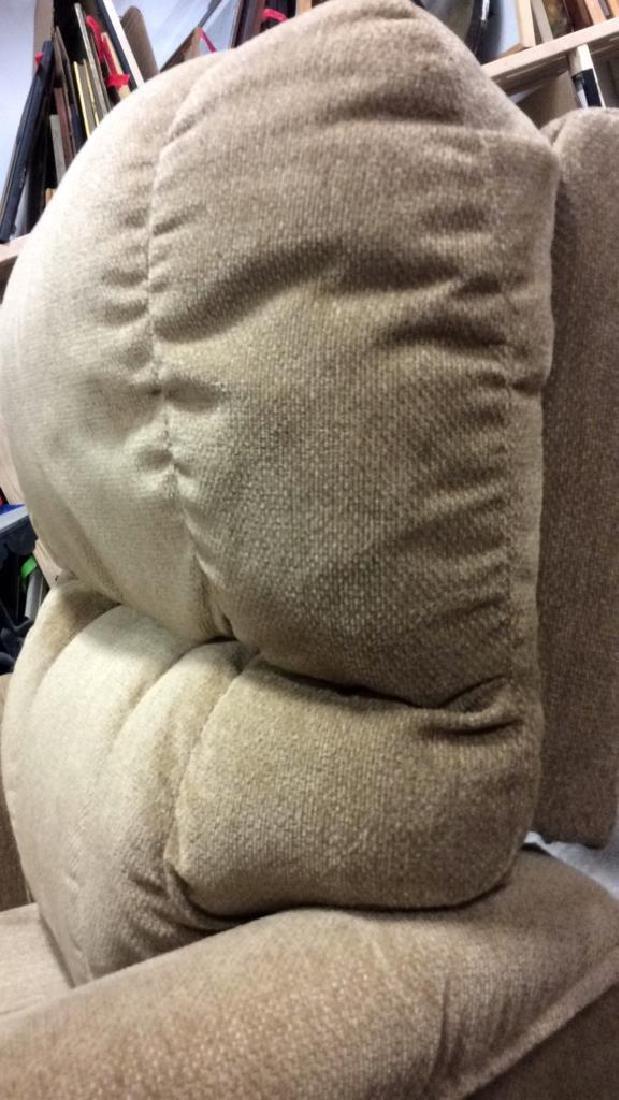 LA Z BOY Light Brown Toned Reclining Chair - 10