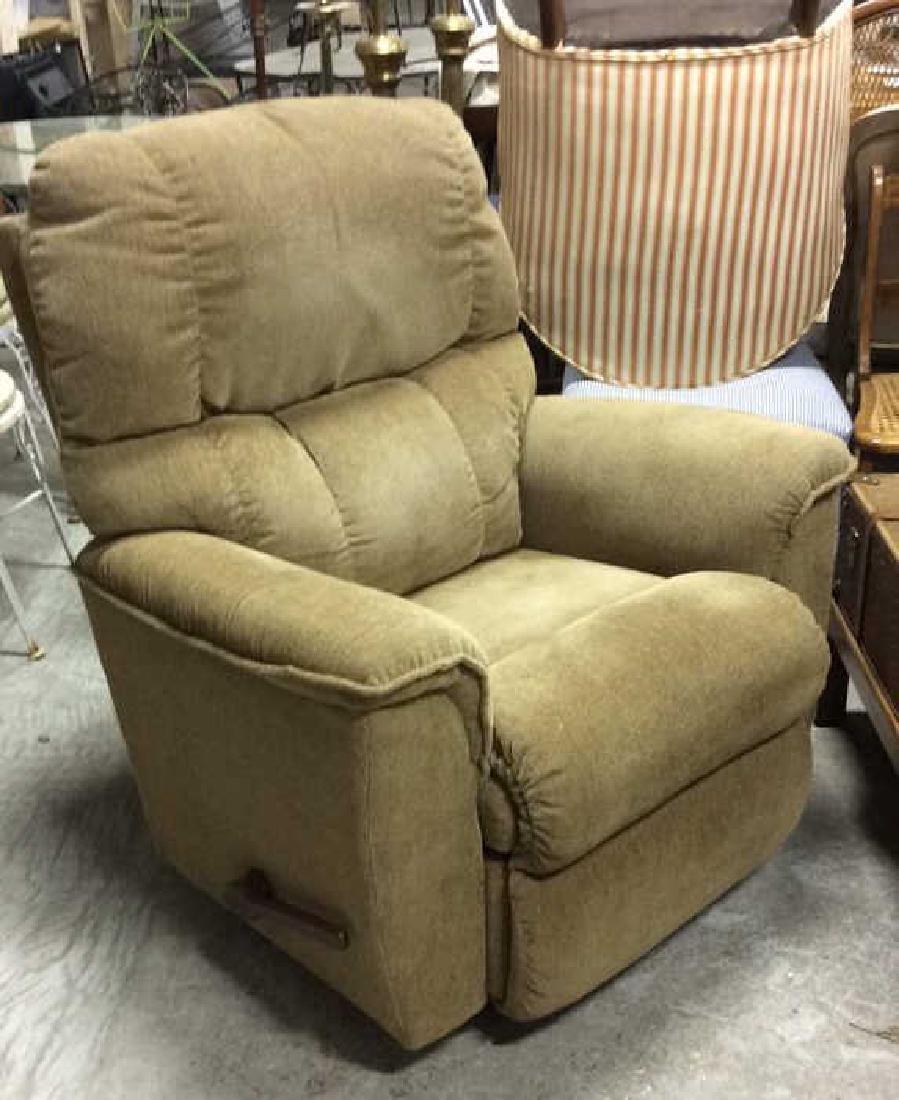 LA Z BOY Light Brown Toned Reclining Chair - 2