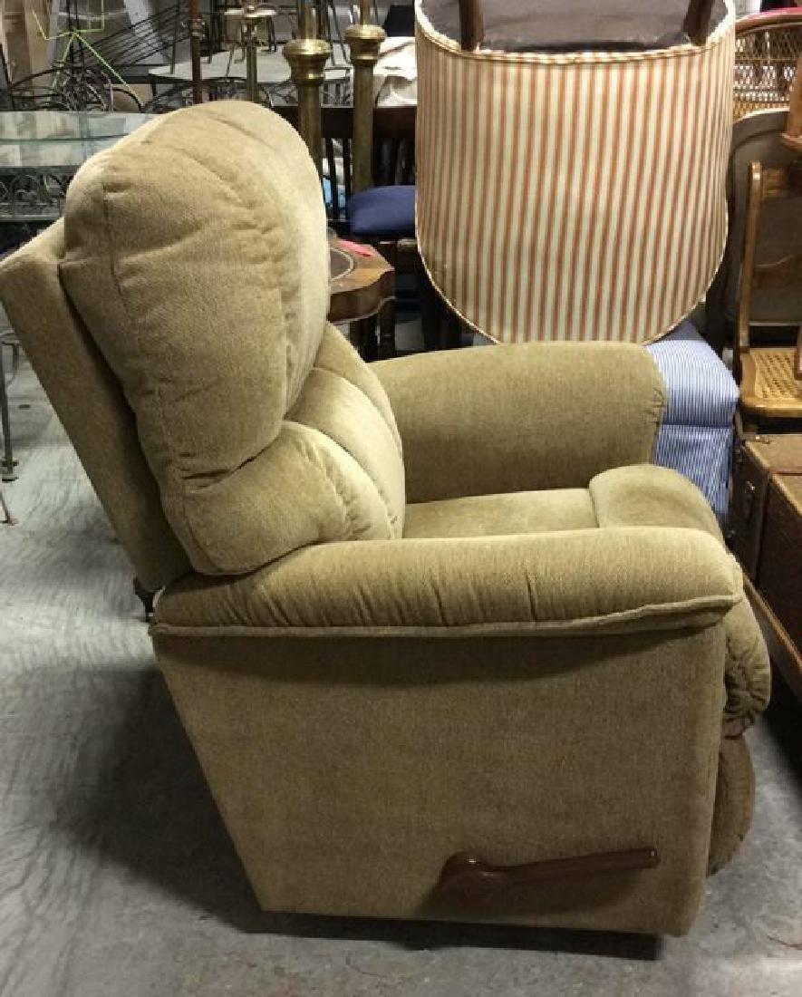 LA Z BOY Light Brown Toned Reclining Chair - 3