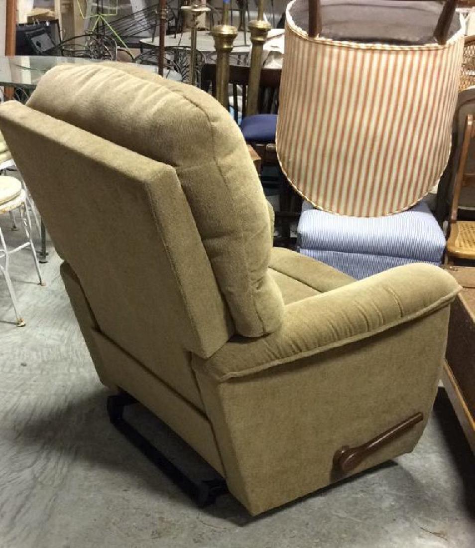 LA Z BOY Light Brown Toned Reclining Chair - 4