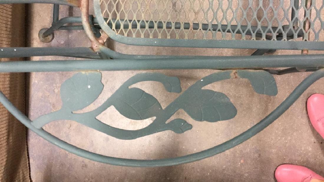 Vintage Outdoor Iron Love Seat Glider - 5