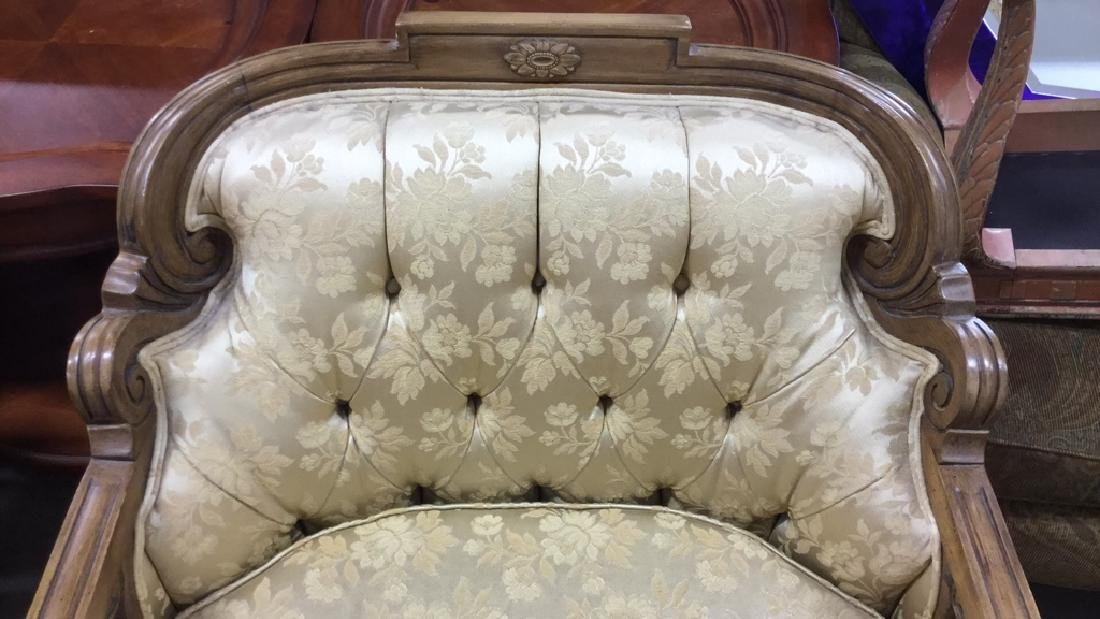 Vintage Upholstered Bergere Chair - 2