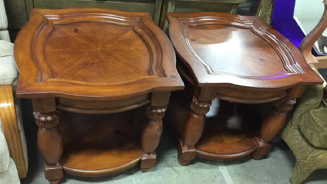 Pair Matching Wood End TablesSide Tables