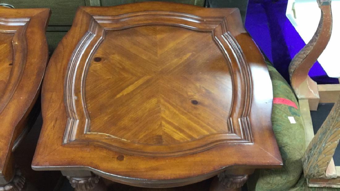 Pair Matching Wood End TablesSide Tables - 4