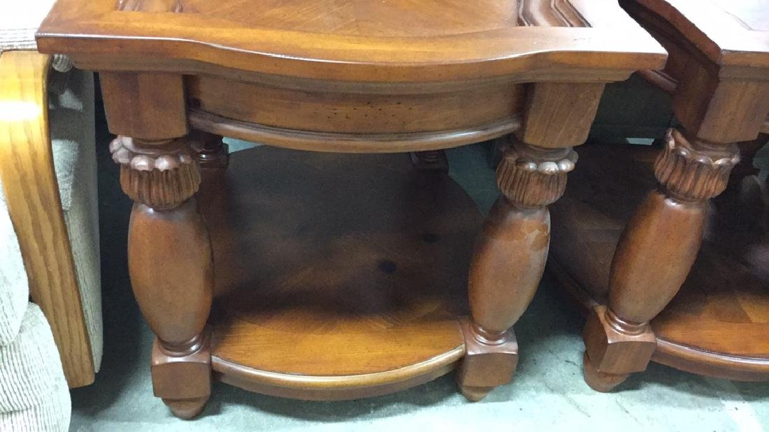 Pair Matching Wood End TablesSide Tables - 6