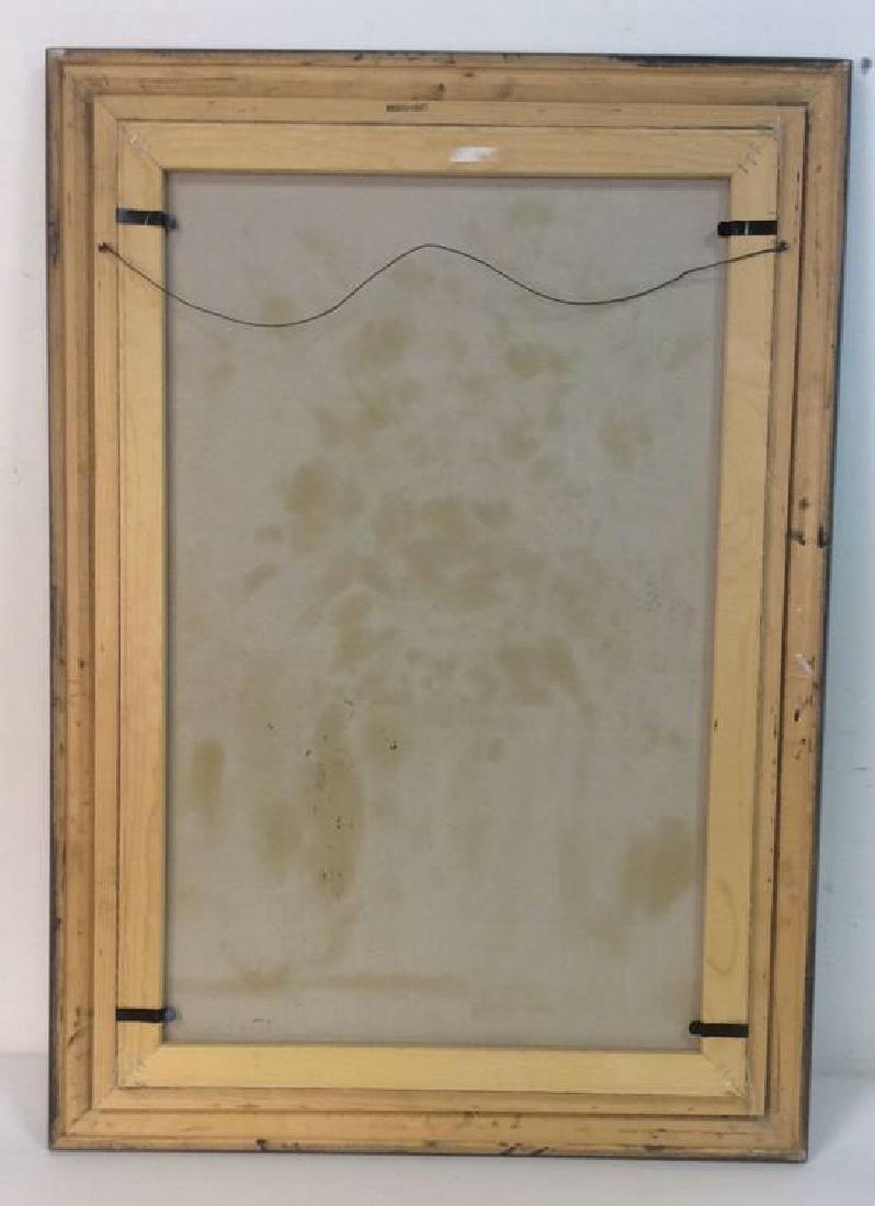 S HOFNER Framed Acrylic Floral on Canvas - 10