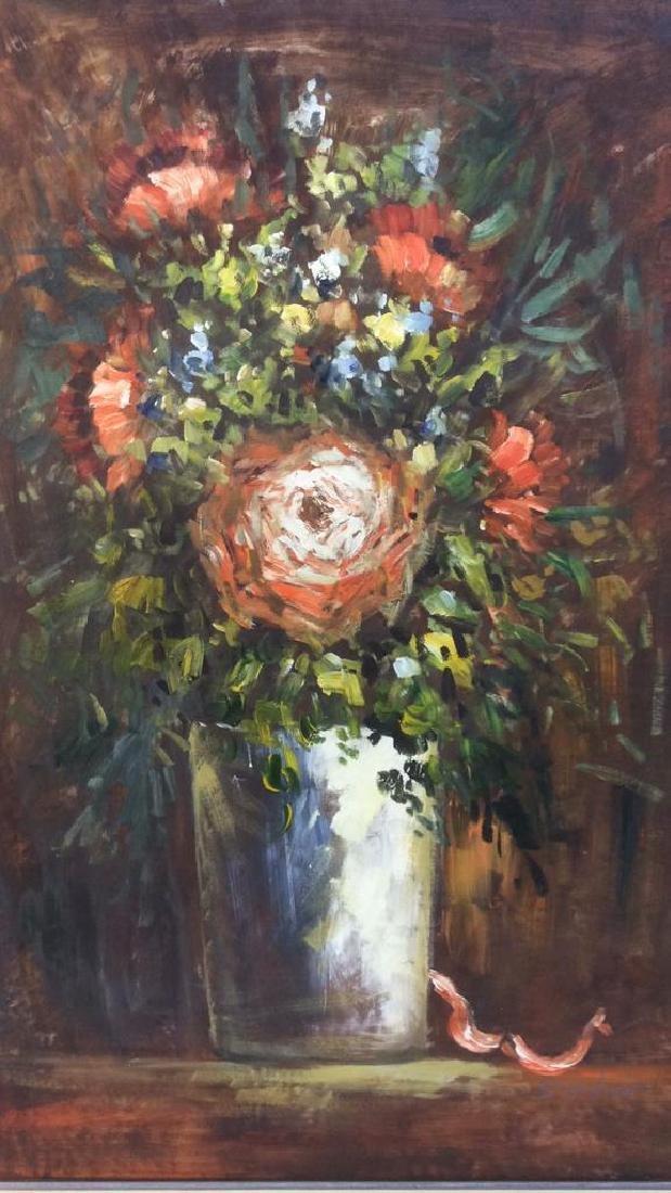 S HOFNER Framed Acrylic Floral on Canvas - 5