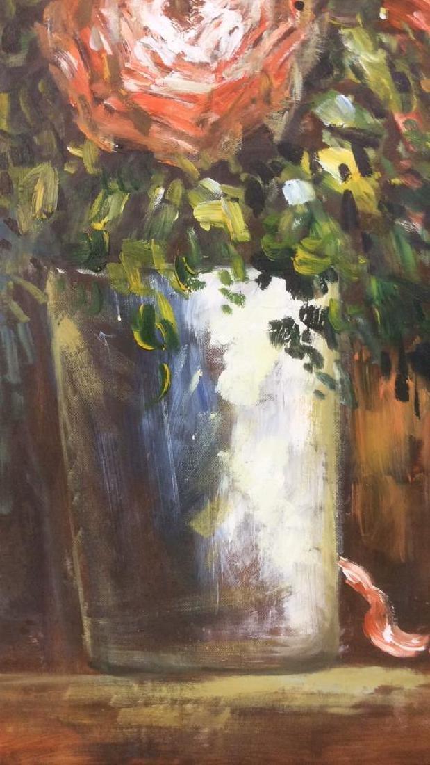S HOFNER Framed Acrylic Floral on Canvas - 6