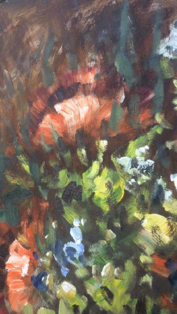 S HOFNER Framed Acrylic Floral on Canvas - 8