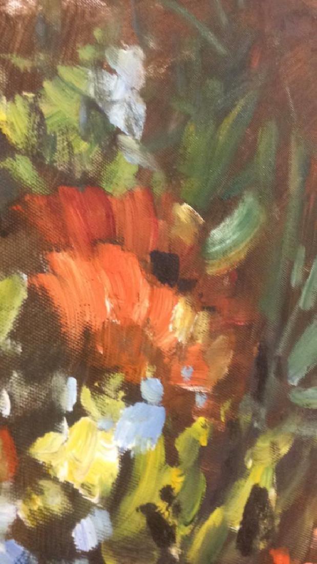 S HOFNER Framed Acrylic Floral on Canvas - 9