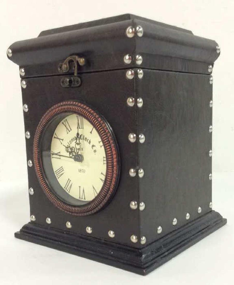 COLONIAL CLOCK CO Brown Toned Studded Clock - 5