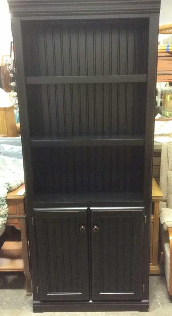 Black Toned Bookshelf w Cabinets