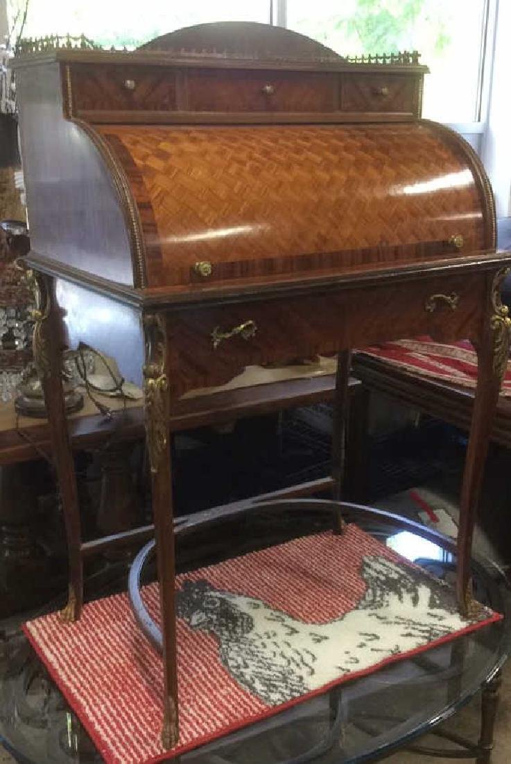 Continental Antique Ladies Writing Desk - 14