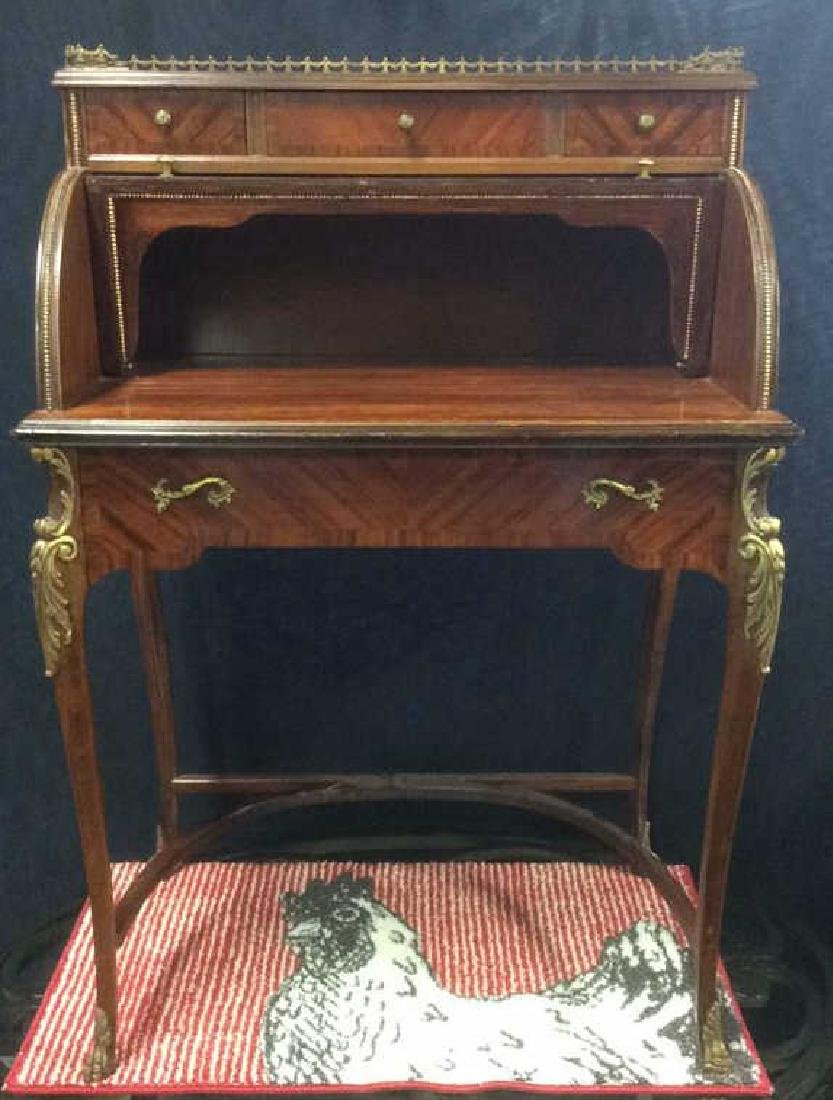 Continental Antique Ladies Writing Desk - 2