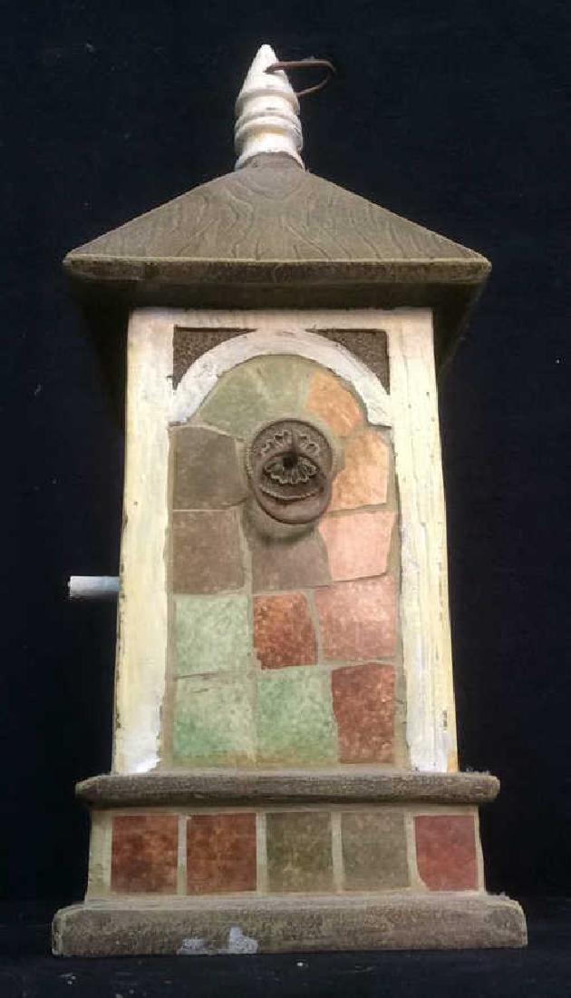 Ceramic Stone Schoolhouse Style Birdhouse - 4