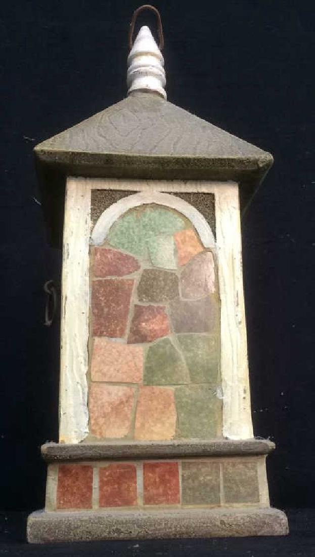 Ceramic Stone Schoolhouse Style Birdhouse - 5