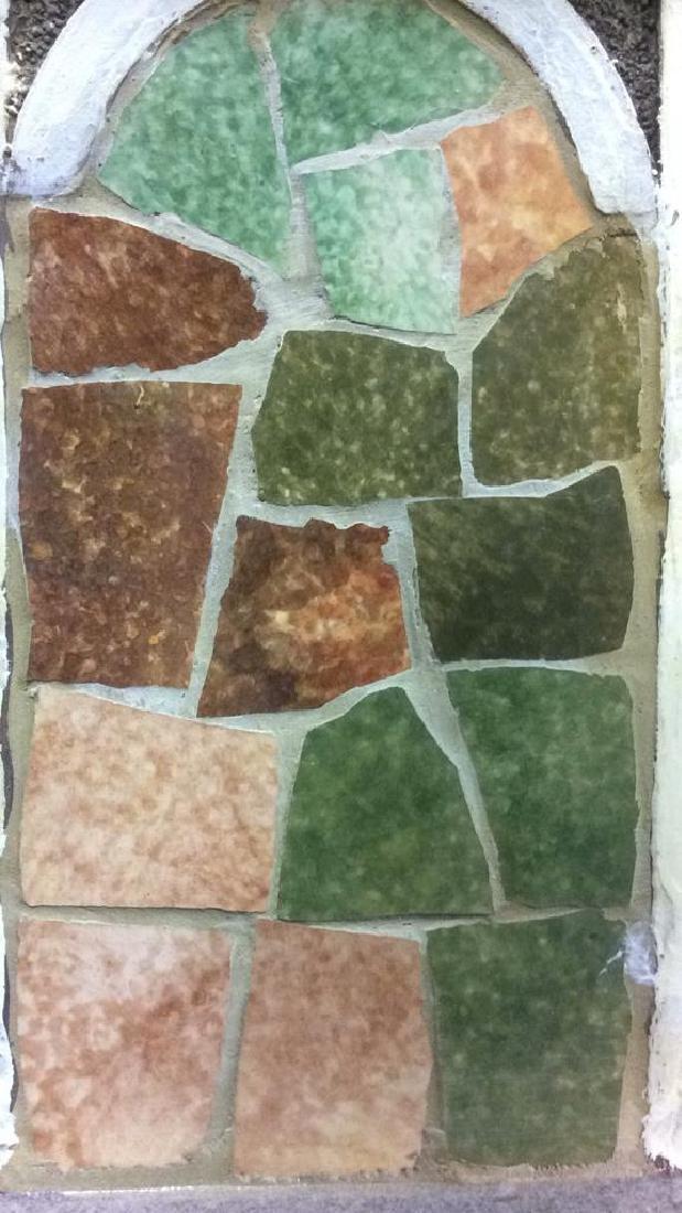Ceramic Stone Schoolhouse Style Birdhouse - 6