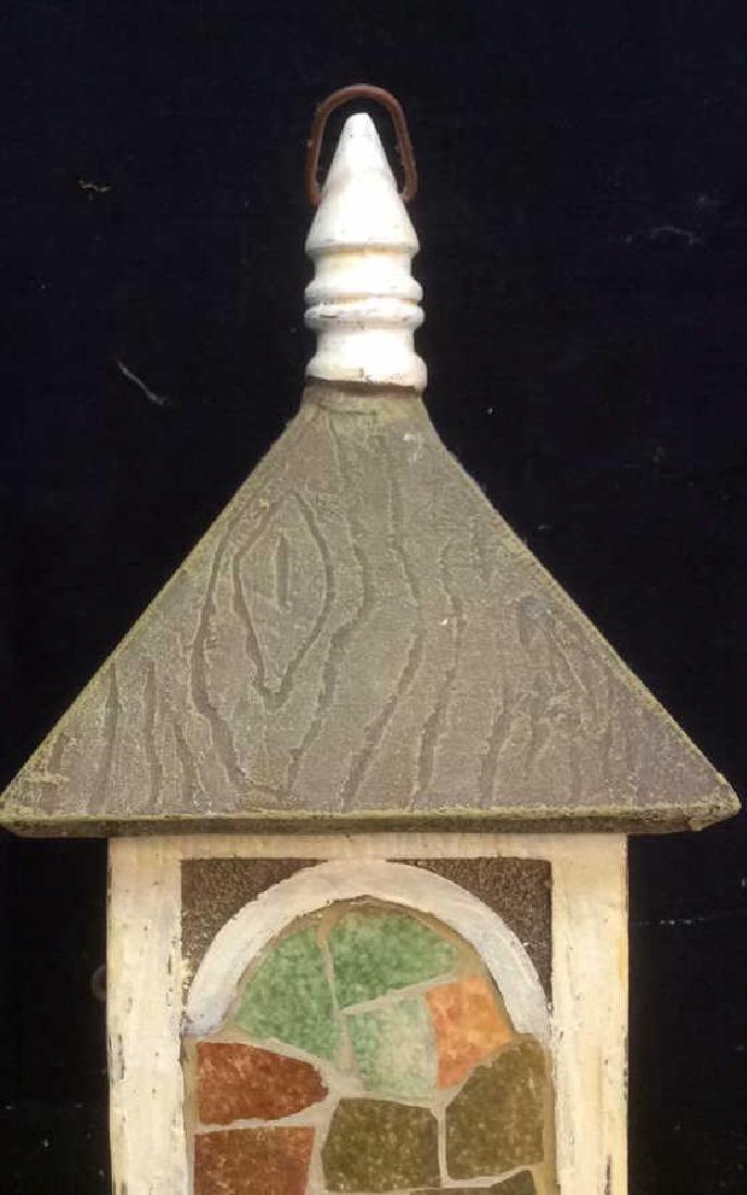 Ceramic Stone Schoolhouse Style Birdhouse - 8