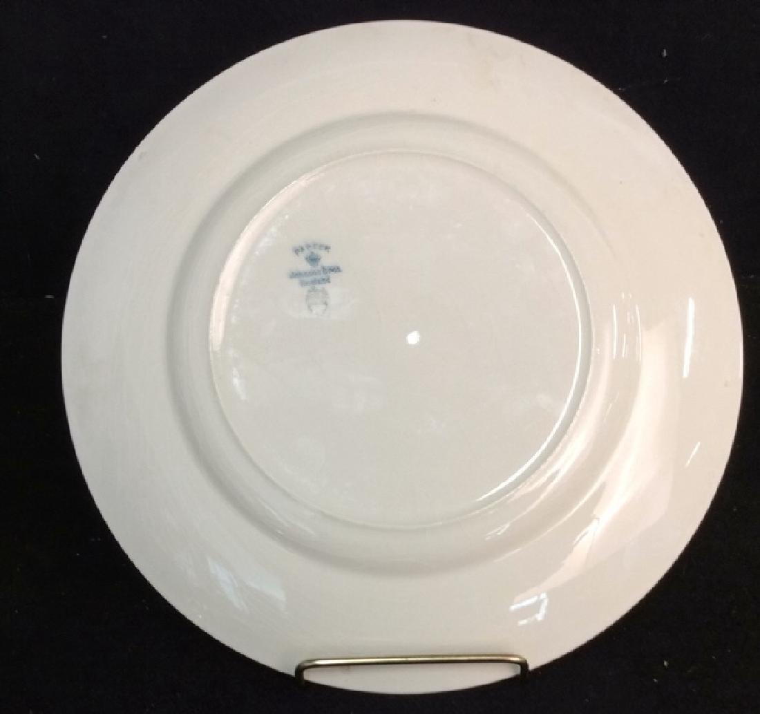 Lot 3 JOHNSON BROS ENGLAND Plate W Utensils - 4