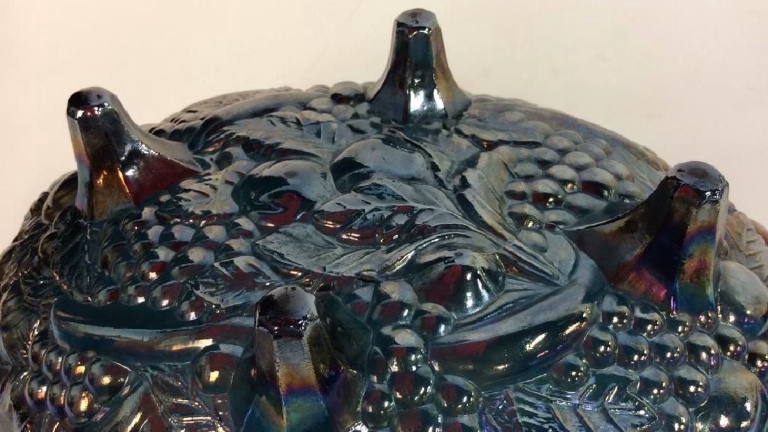 Amethyst/Blue Carnival Glass Bowl - 8