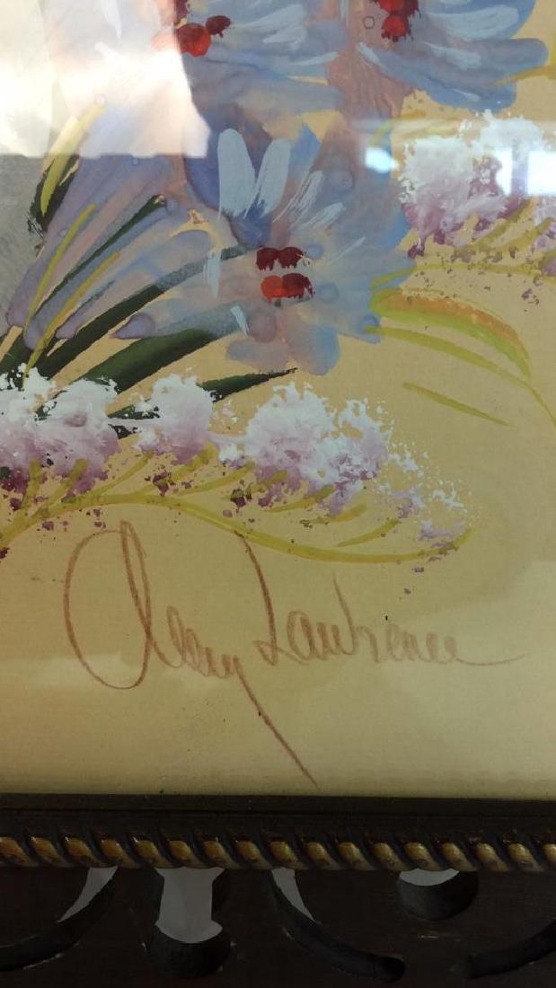 Framed Floral Artwork Signed - 10