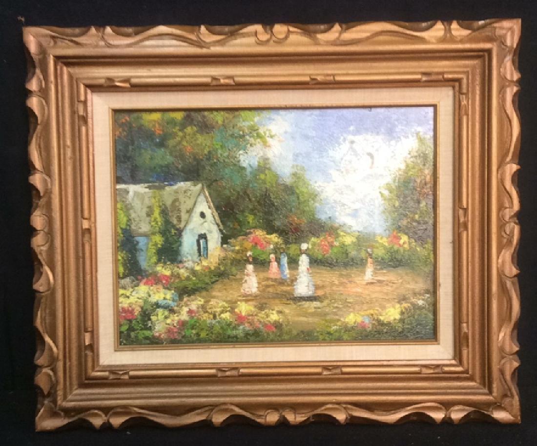 Professionally Framed Painting Of Small Village