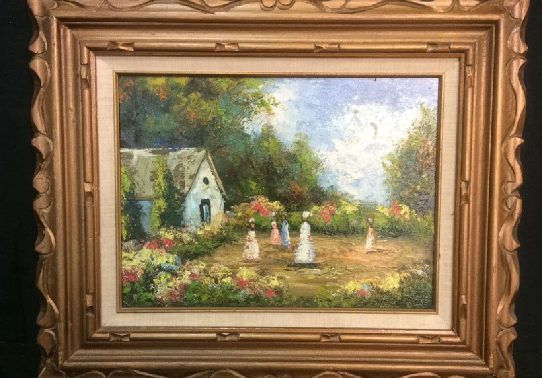 Professionally Framed Painting Of Small Village - 2