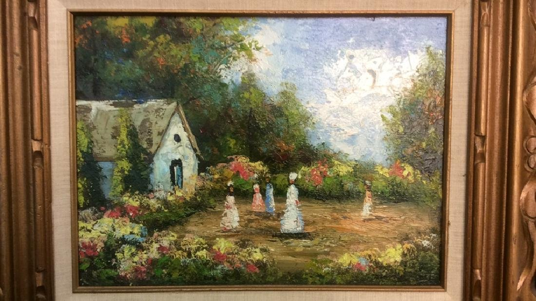 Professionally Framed Painting Of Small Village - 3