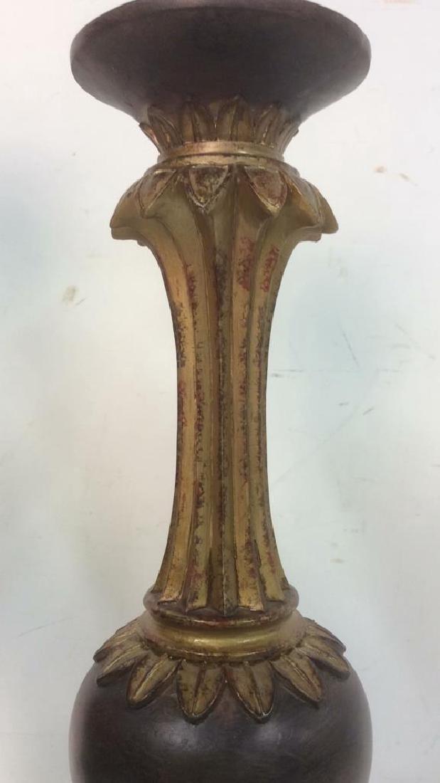 Lot 2 Ornately Detailed Candlesticks - 3