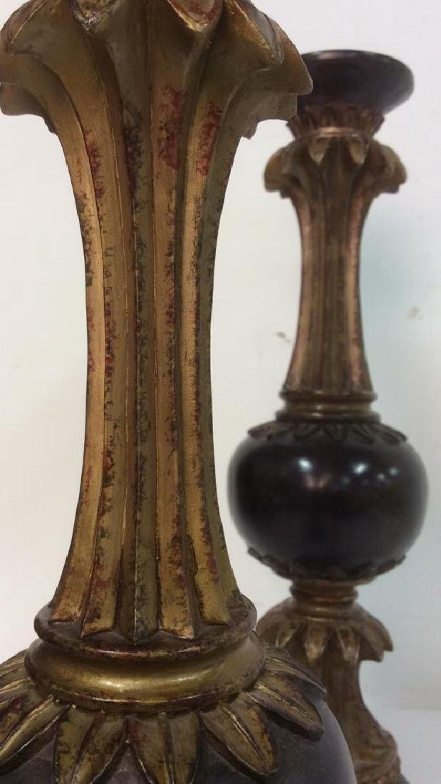 Lot 2 Ornately Detailed Candlesticks - 9