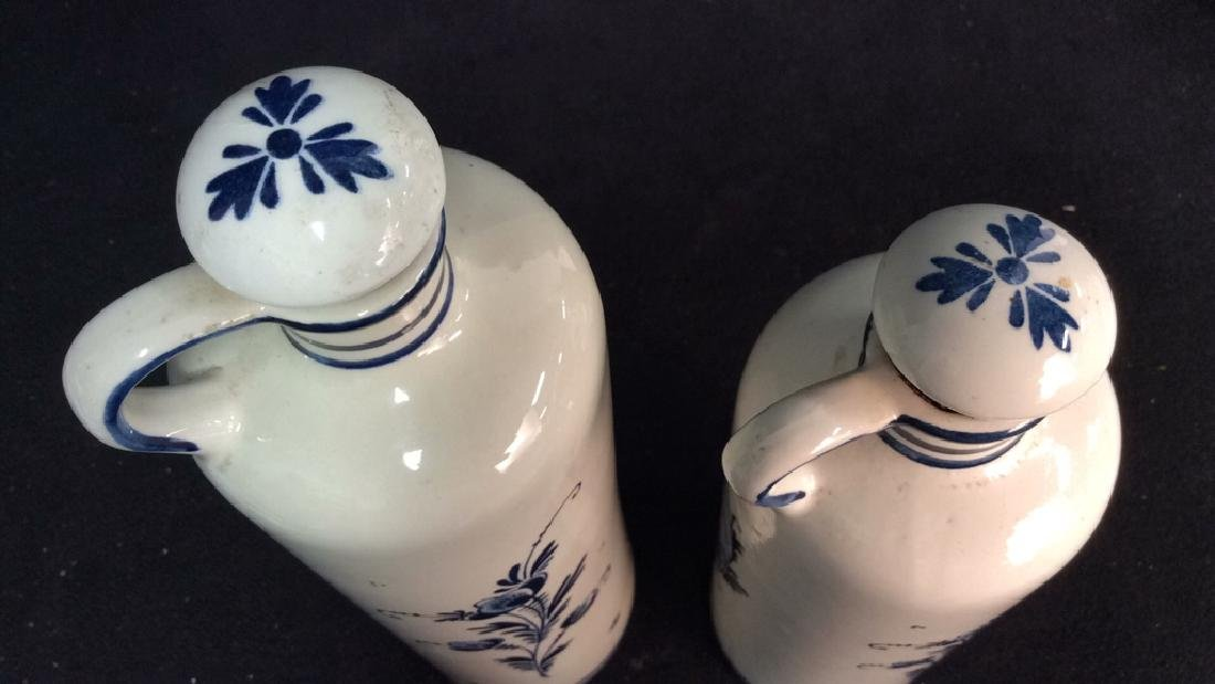 Lot 2 VINTAGE DELFT BLUE MADE IN HOLAND DECANTERS - 10