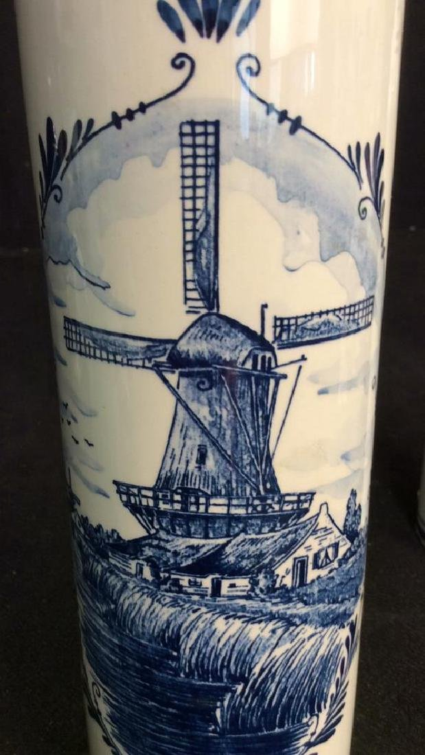 Lot 2 VINTAGE DELFT BLUE MADE IN HOLAND DECANTERS - 11
