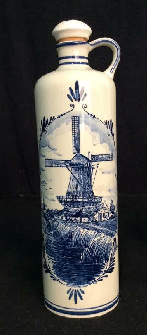 Lot 2 VINTAGE DELFT BLUE MADE IN HOLAND DECANTERS - 2