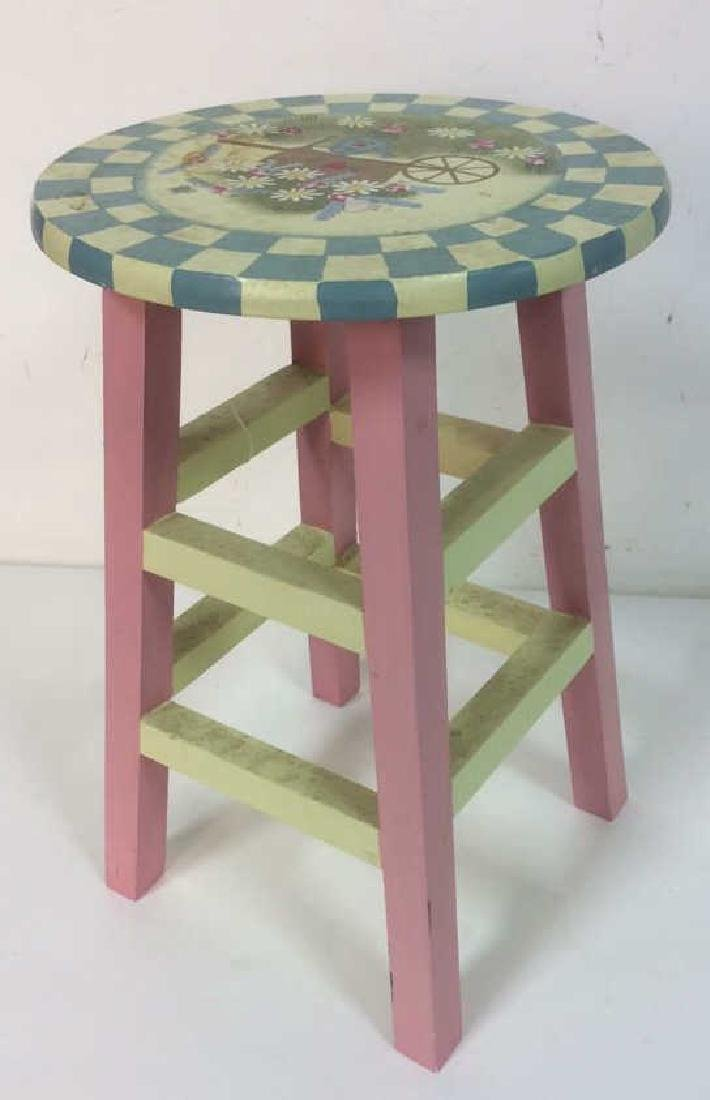 Floral Detail Children's Stool
