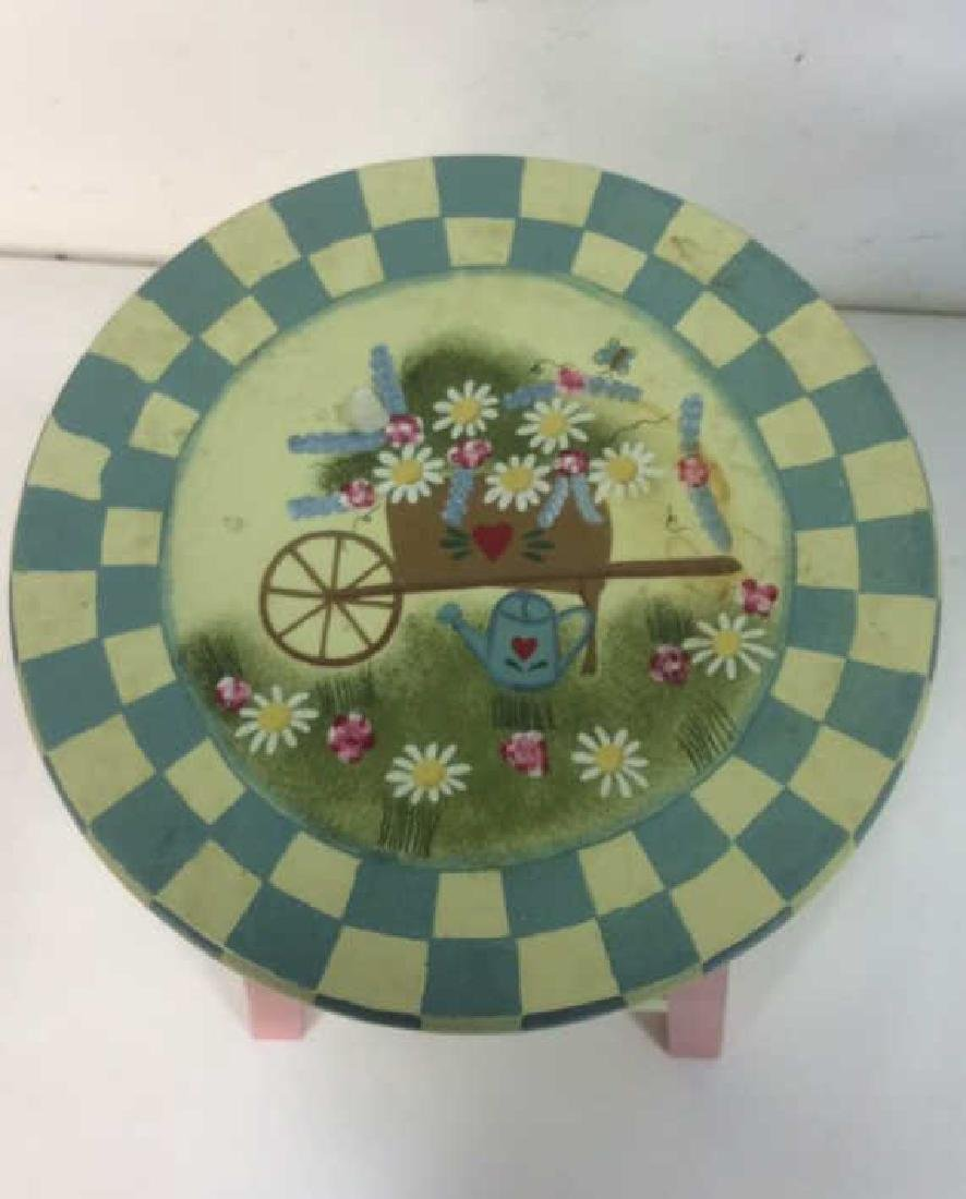 Floral Detail Children's Stool - 3