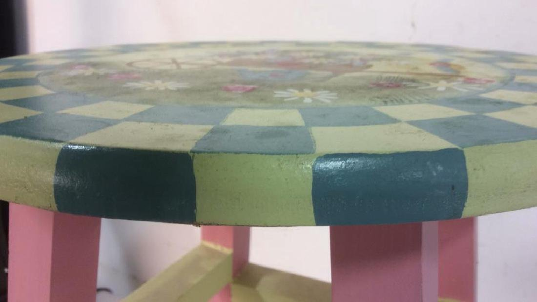 Floral Detail Children's Stool - 9