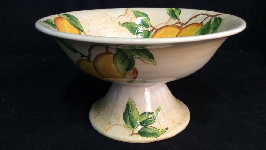 Porcelain/Ceramic Fruit Bowl On Stand