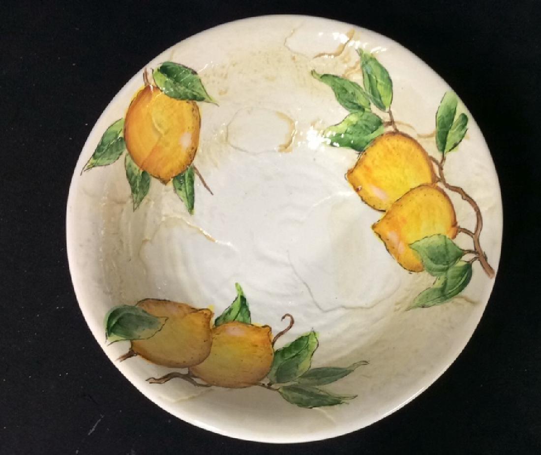 Porcelain/Ceramic Fruit Bowl On Stand - 2