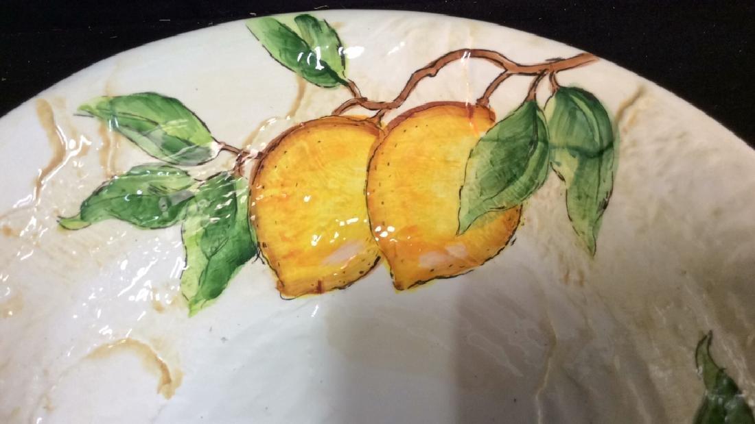 Porcelain/Ceramic Fruit Bowl On Stand - 3